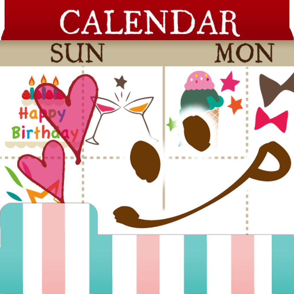 ペタットカレンダー - 女の子の毎日をデコるカレンダー・日記・手帳